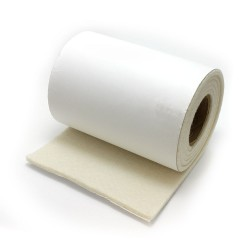 Felt Roll - White felt with adhesive