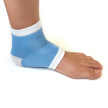 Heel Sleeve - Fabric and Gel Blue and White