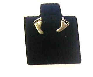 Earrings - Sterling Silver Single Foot